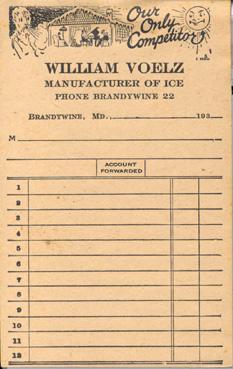 Ice receipt