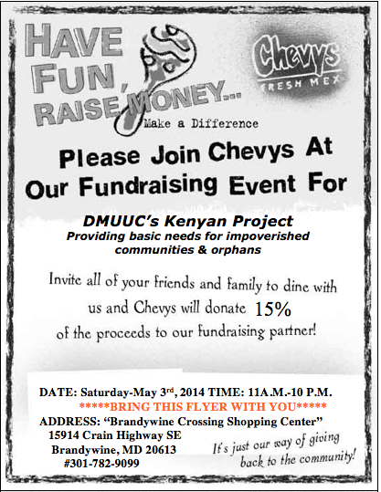 May 3 at Brandywine Crossing - bring this printed coupon