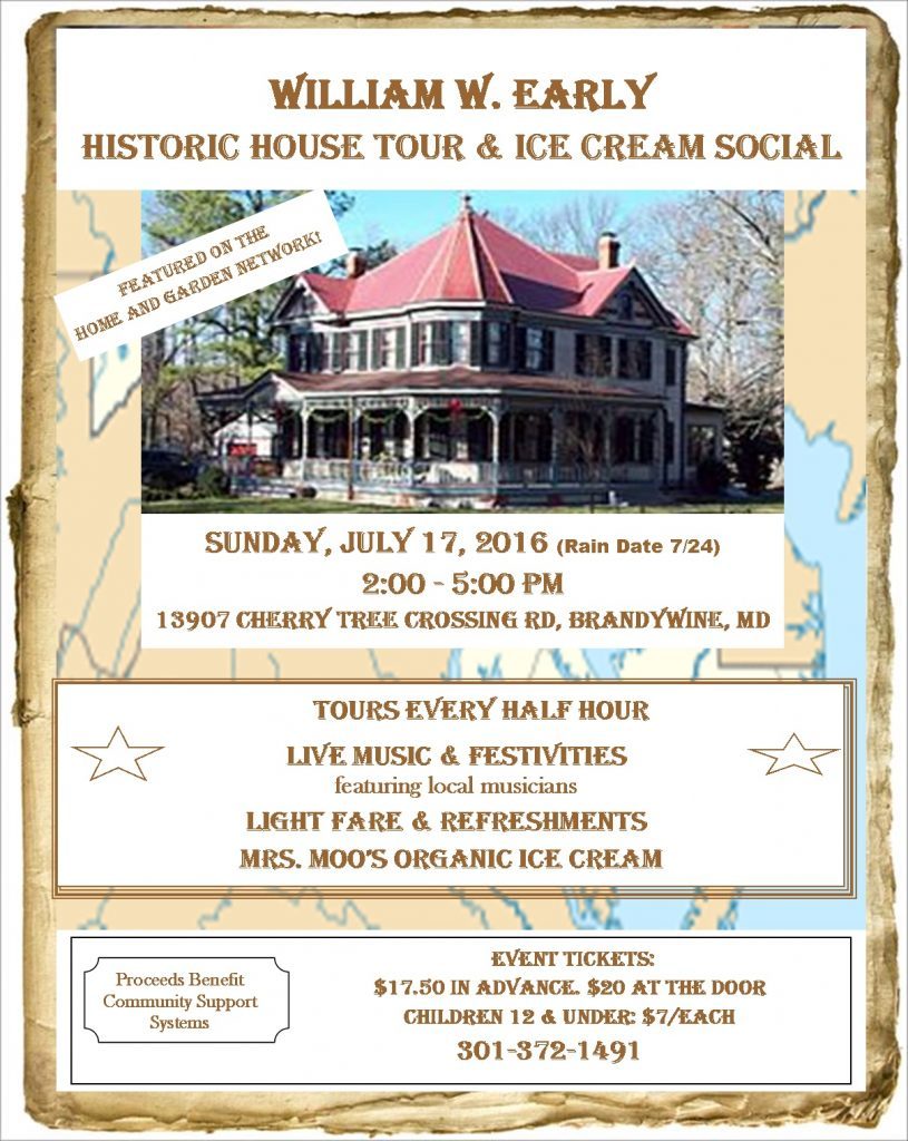 Early House Ice Cream Social Flyer
