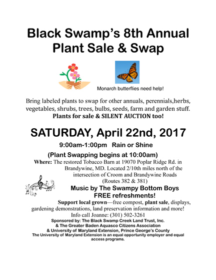 Black Swamp 6th Annual Plant Sale and Swap - Saturday April 22 2017